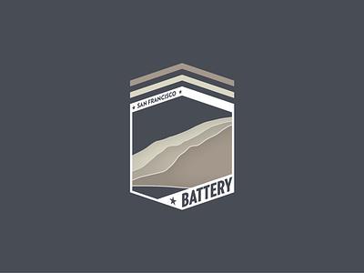 SF Battery Logo illustration branding logo design