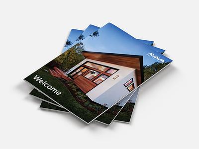 AVAVA Product Brochure print design brochure design branding layout design