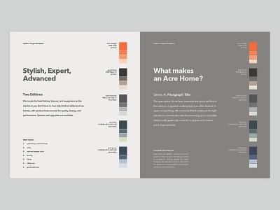 Acre Styleguide grid layout typogaphy styleguide print design branding layout design
