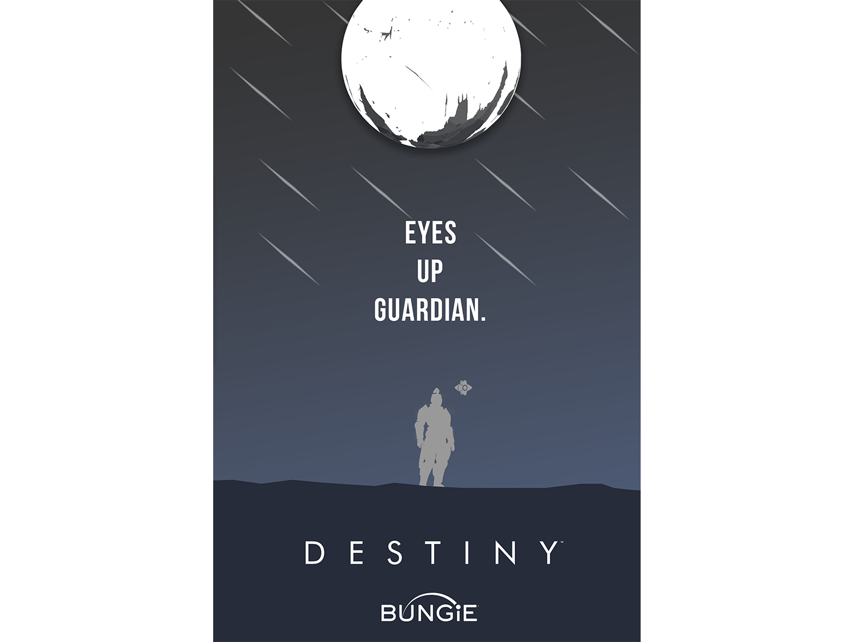 Minimal Destiny Poster minimal illustration design bungie titan poster destiny