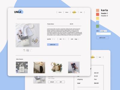 Retail Site Mockup