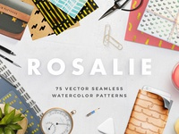 Rosalie Seamless Watercolor Patterns