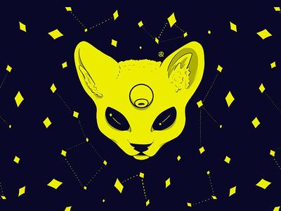 Huevember 3/30 cat space huevember drawing illustration