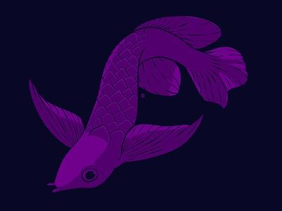 Huevember 15/30 fish procreate ipadpro huevember drawing illustration