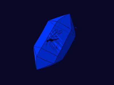 Huevember 18/30 mosquito crystal procreate illustration drawing ipadpro huevember