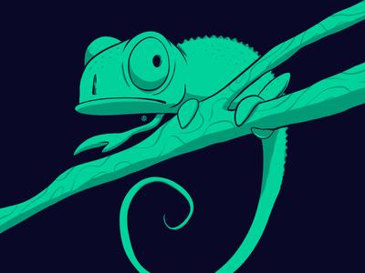 Huevember 23/30 chameleon procreate ipadpro huevember drawing illustration