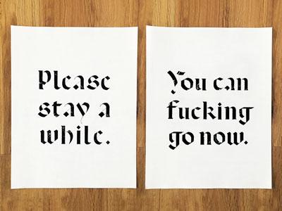 🏡  Signage