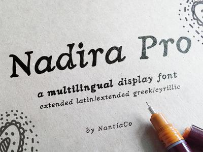 Nadira Pro latin greek cyrillic font