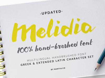 HandBrushed Typeface Melidia Font
