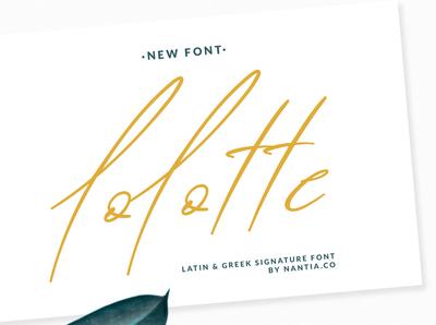 lolotte signature font