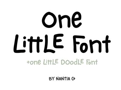 One Little Font doodle font