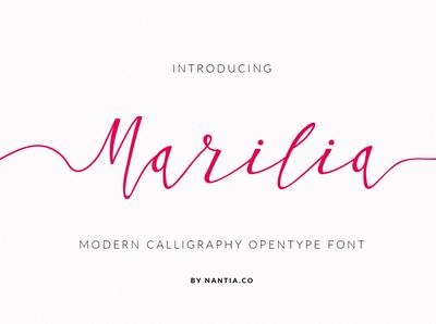 Greek Script Font Modern Calligraphy Marilia