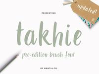 Takhie Pro Brush Font