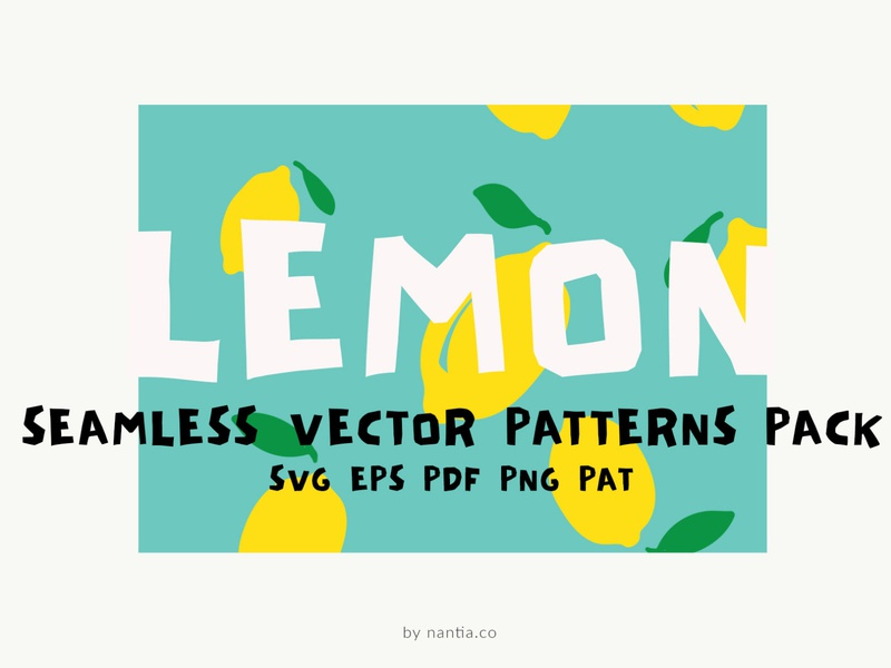 Lemon Seamless Vector Patterns Pack vector patterns vectorart lemon patterns seamless patters surface patterns