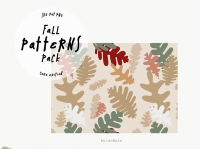 Fall Seamless Patterns Camo Edition Vectors