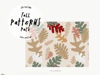 Fall Seamless Patterns Camo Edition Vectors