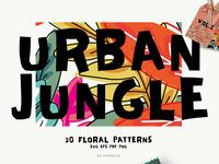 Seamless Patterns Urban Jungle Vol 1