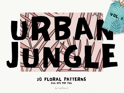 Seamless Patterns Urban Jungle Vol 2