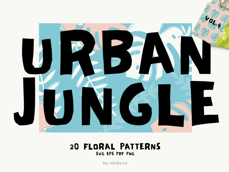 Seamless Patterns Urban Jungle Vol 4 background illustrations vector patterns urban jungle patterns seamless patterns