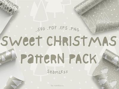 Sweet Christmas Patterns illustrations christmas tree nantiaco graphics christmas graphics christmas patterns seamless patterns