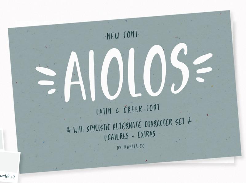 Aiolos greek doodle font
