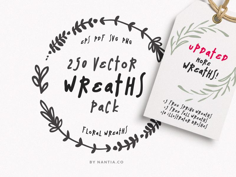250 Wreaths MegaPack Vectors