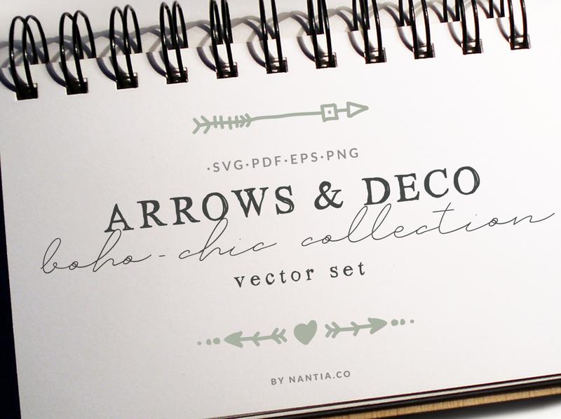 Boho Chic Arrows   Deco Vector Pack