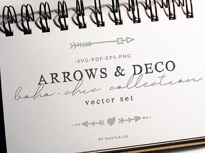 Boho Chic Arrows   Deco Vector Pack decorative graphics arrows cliparts nantiaco graphics illustration