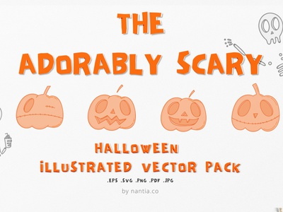 Adorably Scary Halloween Pack halloween halloween design halloween graphics nantiaco graphics