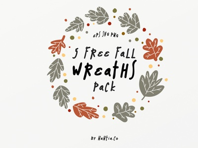 Free Fall Wreaths Vector Pack free fall wreaths fall graphics nantiaco fonts nantiaco graphics