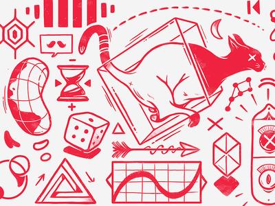 Quantum. drawing art direction illustration