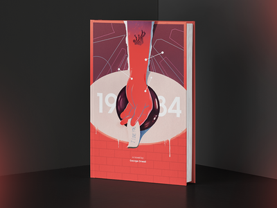 1984. 1984 novel editorial cover art book print graphic design art direction illustration