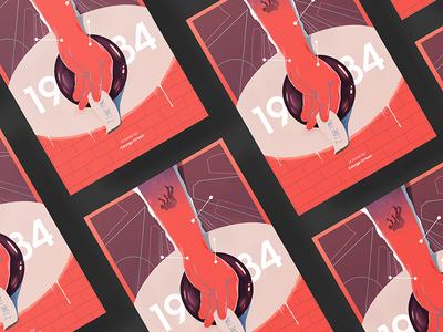 1984.² print graphic design illustration art direction book cover coverdesign 1984