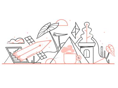 Portfolio Refresh. portfolio website freelance portfolio branding graphic design illustration art direction