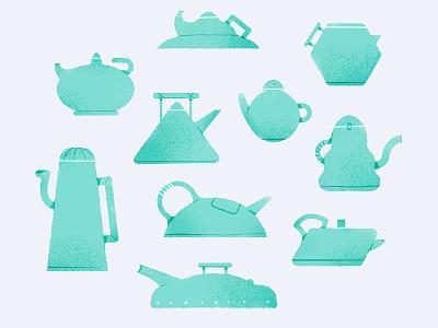 Teapots. icon design identity vector branding illustration art direction graphic design