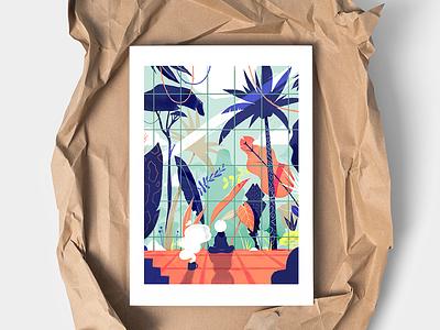 Self-isolation Artprint. artprint quarantine jungle print drawing illustration