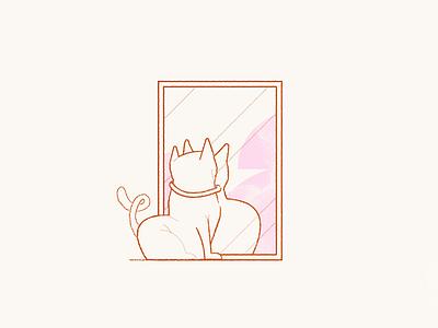 Meow. drawing illustration