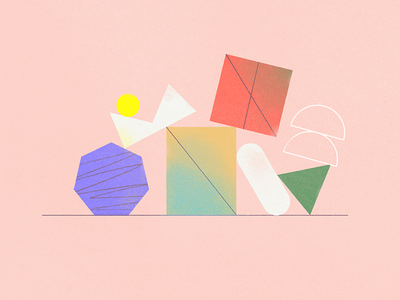 Shapes. vector graphic design art direction illustration