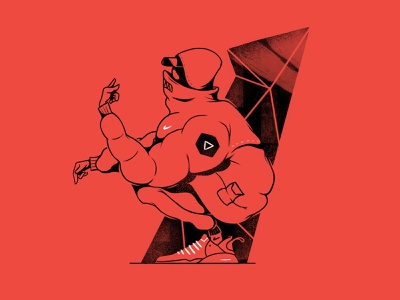 Drill boy. street rap illustration