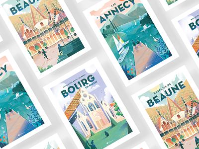 Intuive Poster serie. vintage poster designer poster design poster art typography branding vector print drawing graphic design art direction illustration