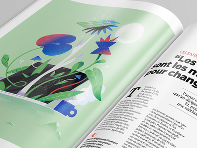 Management Magazine. digital ecology drawing vector print graphic design art direction illustration