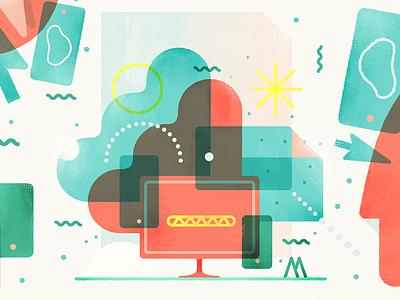 Adventures in Programmaland colors illustration