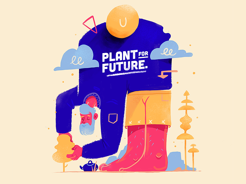 Plant For Future. drawing art direction illustration