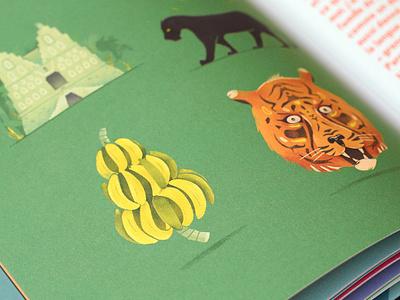 Jungle-Book book print drawing childrens book illustration