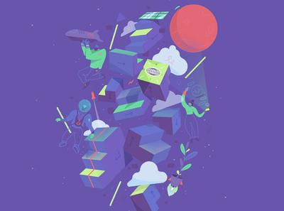 Festival des Nouvelles Explorations print identity illustration graphic-design art direction