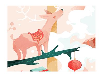 Dear, deer. wacom wacom cintiq drawing graphic design art direction illustration