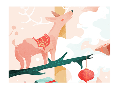Dear, deer. wacom wacom cintiq drawing graphic design art direction illustration