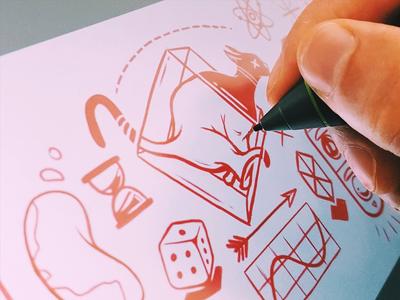 Quantum. tattoo wacom cintiq drawing graphic design art direction illustration