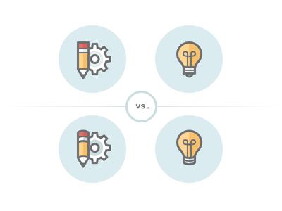 Icon set - style to use icons icon set icon bulb pencil optimization