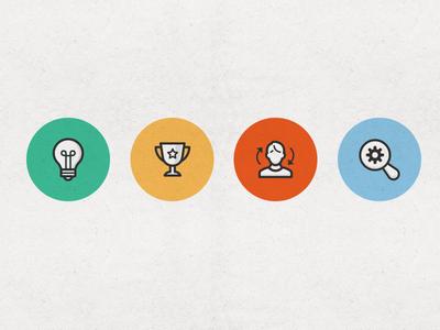 Seo & Marketing Icon Set seo marketing icon set icons flat